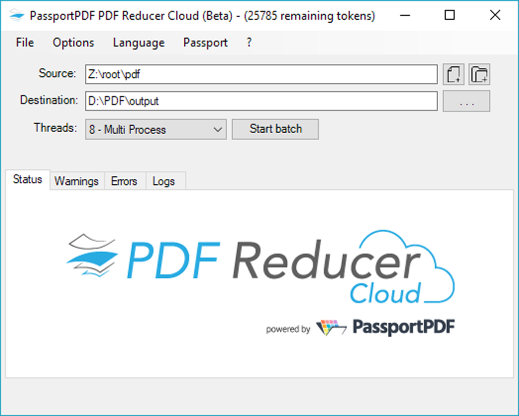 PDF Reducer Cloud Screen shot